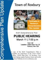 NOTICE — Draft Comprehensive Plan Public Hearing, March 11, 2013